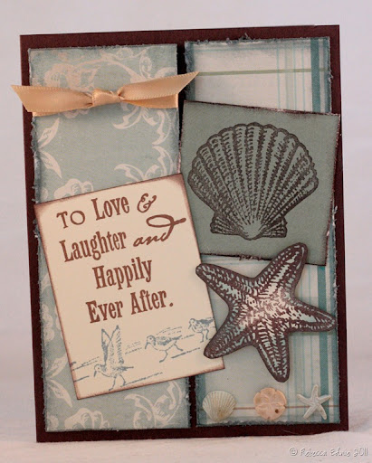 I needed a card for a beachthemed wedding and I liked the original so much