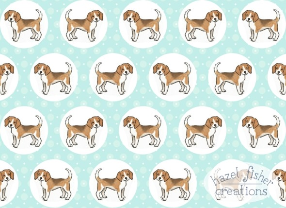 2015 March 23 Spoonflower beagles fabric surface pattern design contest hazelfishercreations