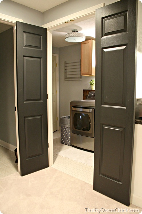 Basement Room Door Ideas: The Finished Basement From Thrifty Decor Chick