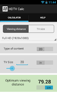 HDTV Calculator- screenshot thumbnail