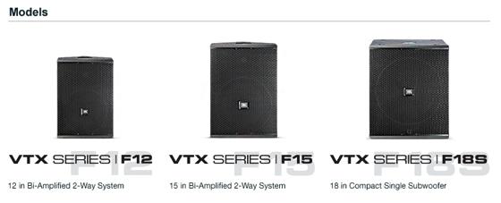 Dòng loa hội trường JBL VTX F-Series