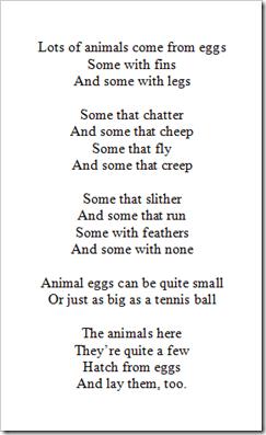 Preschool Alphabet: Eggs & Bird Nests