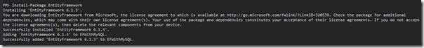 install-package-entity-framework