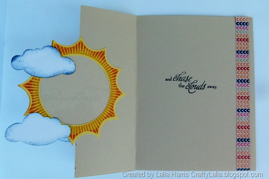 card made using Swing Card Feature on Artiste Cartridge & CTMH April SOTM