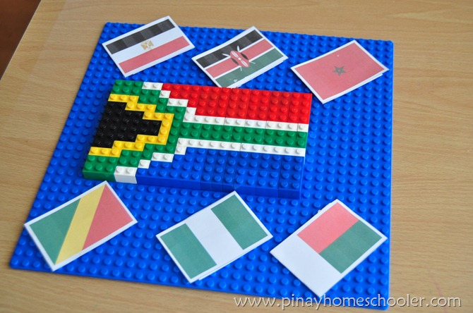 South African Flag in LEGO