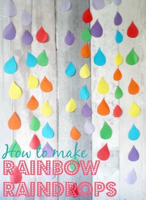 how to make rainbow raindrops