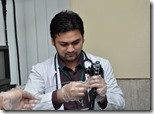 dr zahid performing endoscopy capital hospital