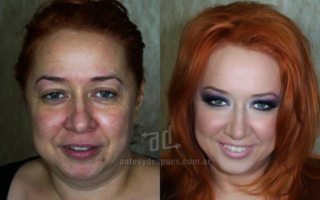 Antes y despues del maquillaje 22