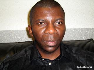 Taty Nsungani, analyste e?conomique et president de la ligue des jeunes de l'Union pour la Nation Congolaise (UNC). Radio Okapi