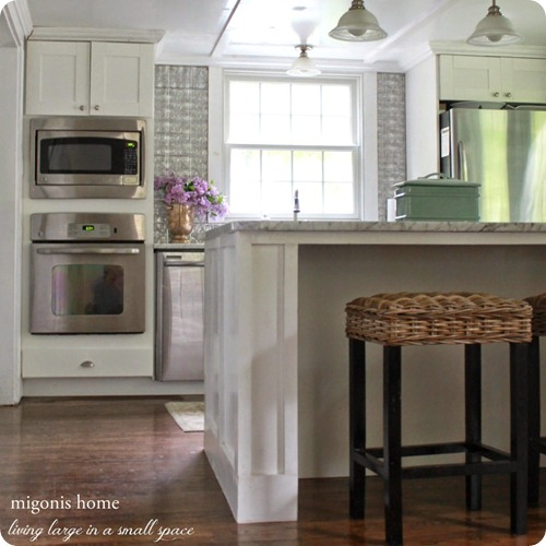 kitchen island with sides built out