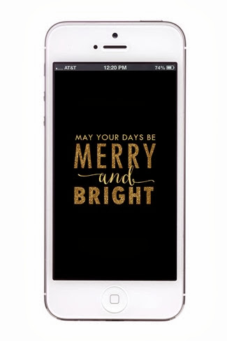 merry & bright iphone