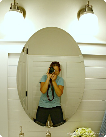 oval mirror bathroom no hardware