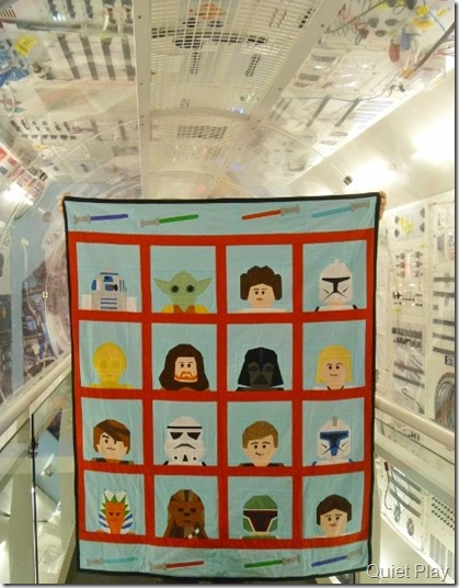 LEGO star Wars quilt in the space shuttle