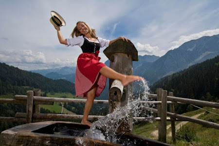 Imagini fete Austria: Abtenau desculta