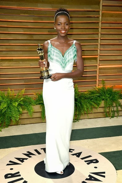 Lupita Nyong'o attends the 2014 Vanity Fair Oscar Party