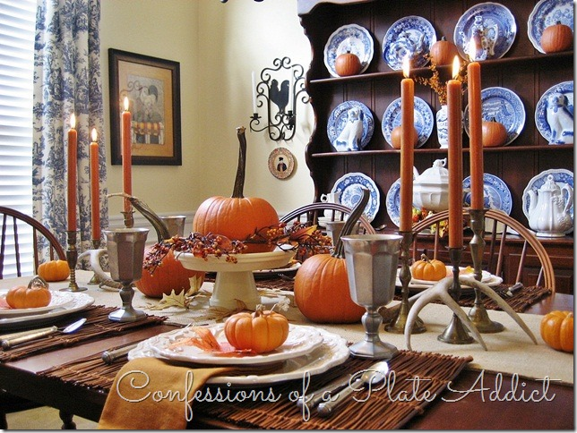 CONFESSIONS OF A PLATE ADDICT Rustic Thanksgiving Tablescape