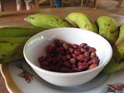 Complementary locally grown bananas and roasted peanuts