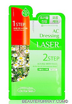 Leaders Clinic 2Step AC Dressing Laser Mask - Calms & Soothes Problem Skin, helps to minimize pores