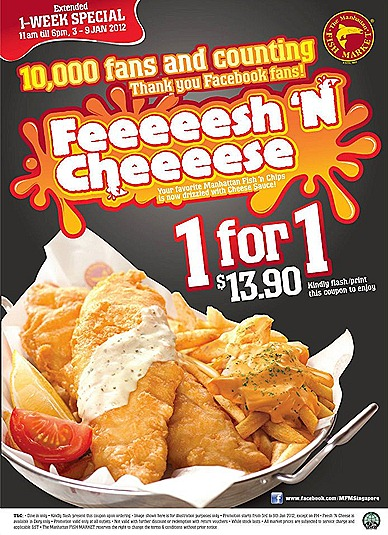 The Manhattan FISH MARKET  Marina Square, Plaza Singapura, The Central, Junction 8, Northpoint, Causeway Point WhiteSands Changi