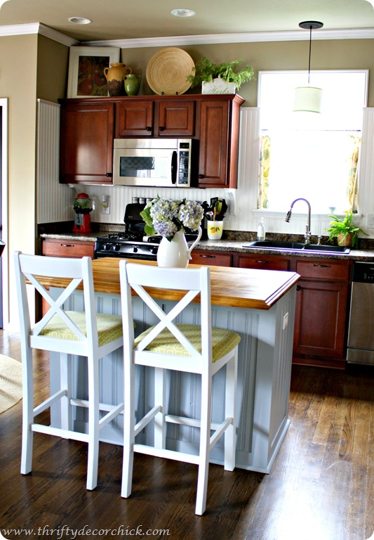 beadboard board and batten kitchen island
