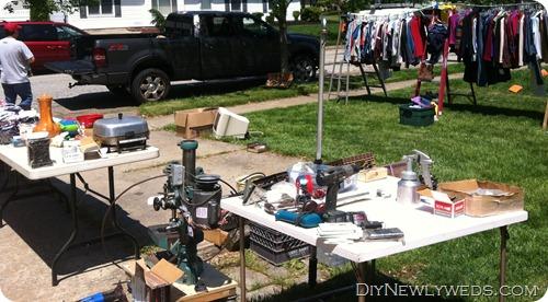 garage sale setup ideas - DIY Newlyweds DIY Home Decorating Ideas & Projects