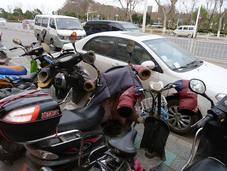 Imagini Zhenjiang: motorete cu manusi