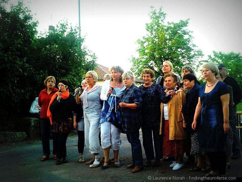 Ladies of the village singing Karaoke