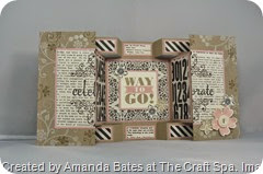 Typeset Large Square Double Display Birthday Card for Shelli,  Amanda Bates, The Craft Spa  (3)