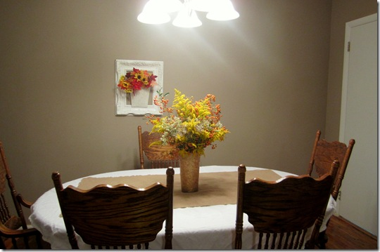 Floral Arrangement in Dining Room