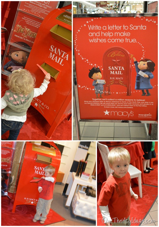 Writing Letters To Santa with Macys Believe