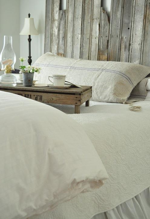bedroom grainsack pillow