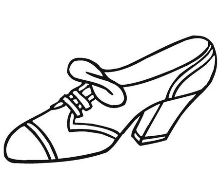 Zapatos Para Mujer Para Colorear Imagui