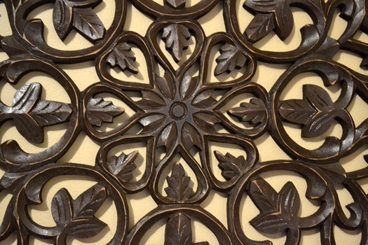 intricate detailed closeup of wall art