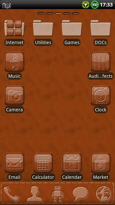 Leather GO Launcher EX Theme- screenshot