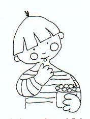 Dibujos Infantiles De Niños Comiendo Para Colorear