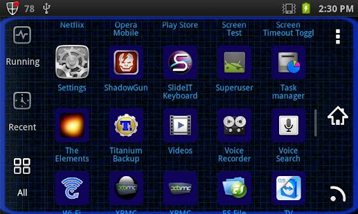 Hacker [Blue]Go Launcher Theme - screenshot thumbnail