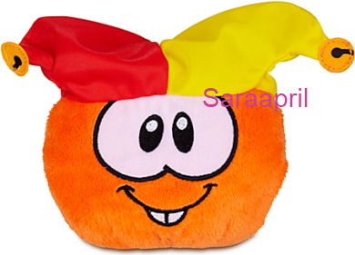 Orange Puffle Plush with Jester Hat :)