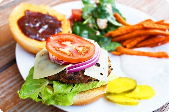 Bbq Swiss Turkey Burgers The Comfort Of Cooking