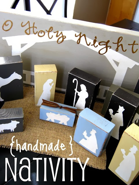 handmade nativity set