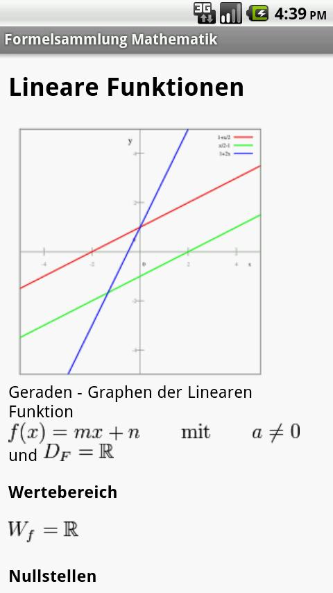 Formelsammlung Mathematik Pro- screenshot