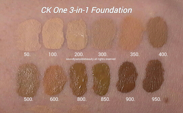 Calvin Klein 3 In 1 Foundation Review Amp Swatches Of Shades