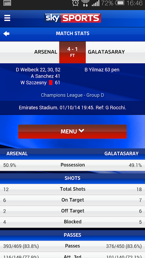 Sky Sports Live Football SC - Android Apps on Google Play
