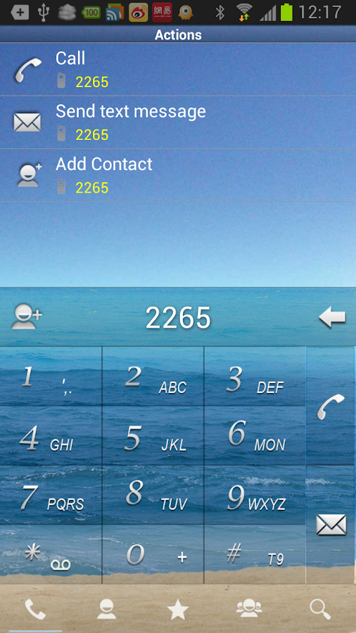 RocketDial SeaShore Theme (HD)- screenshot