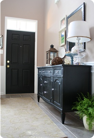 interior black door