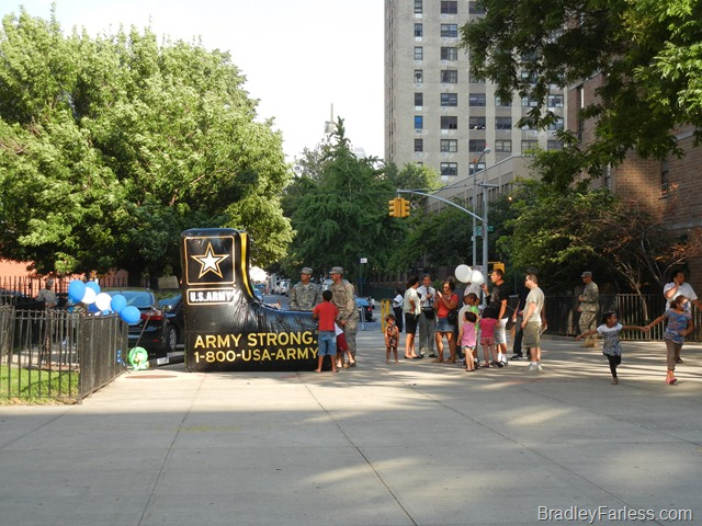 US Army Recruiters at National Night Out Against Crime 2011, New York City.