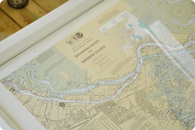 Coffee Table Nautical Chart Porch Projects Dixie Delights