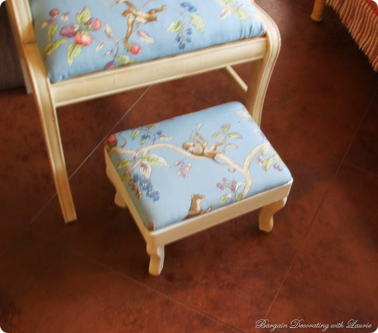 AS Old White Painted Footstool