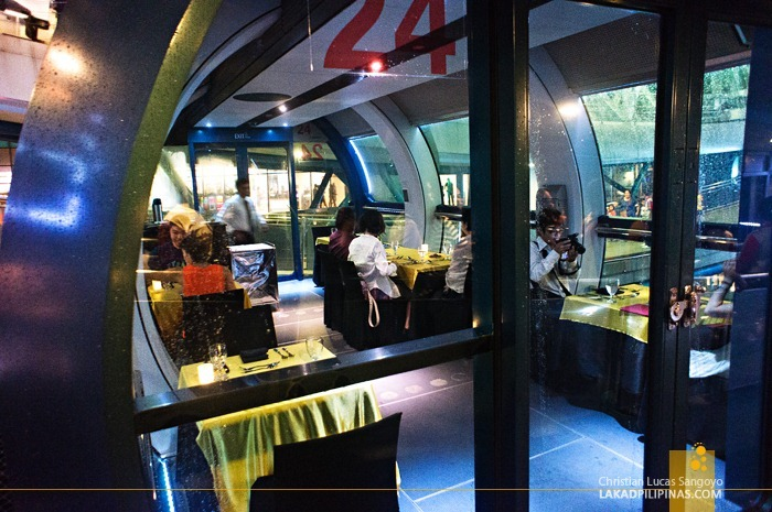 Dining at the Singapore Flyer