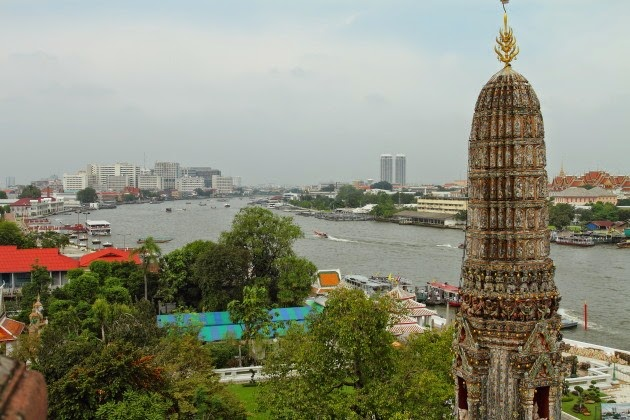 A river view from Wat Arun, Bangkok