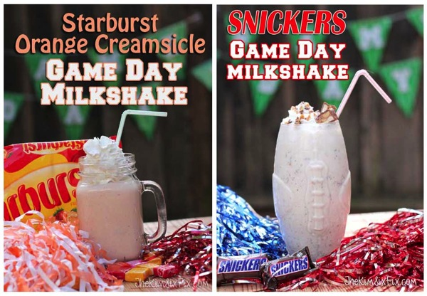 Candy Milkshakes with Snickers and Starburst